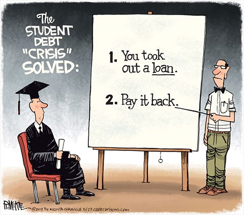 jpg Political Cartoon: Student Loan Crisis Solved