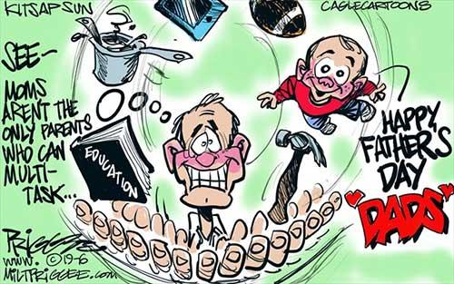 jpg Political Cartoon: Father's Day