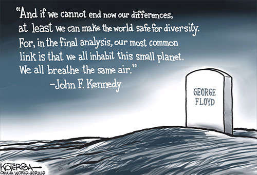 jpg Political Cartoon: The Death of George Floyd