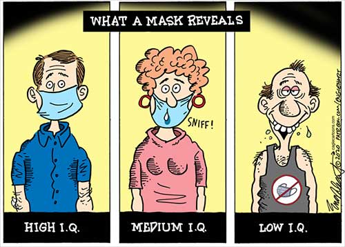 jpg Political Cartoon: What A Mask Reveals