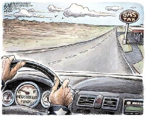 jpg Political Cartoon: Federal Gas Tax