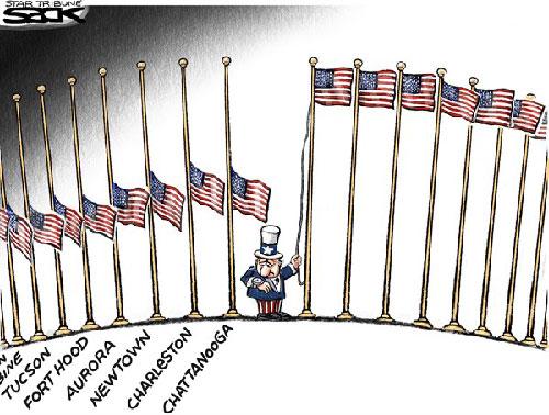 jpg Political Cartoon: America Half Mast