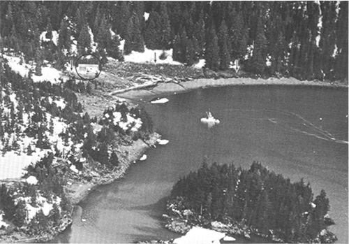 jpg Aerial view of the Chenega village site at the head of Chenega Cove. 1964