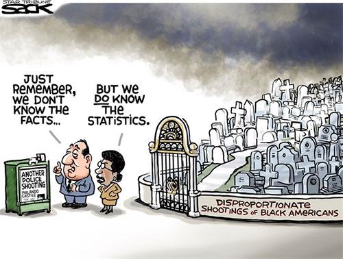 jpg Editorial Cartoon: Cop Shootings
