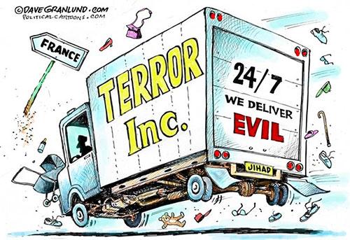 jpg Editorial Cartoon: France terror truck