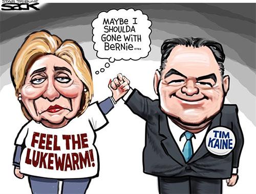 jpg Editorial Cartoon: Clinton & Kaine