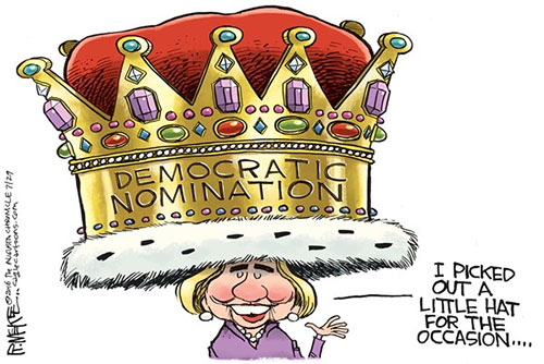 jpg Editorial Cartoon: Hillary Coronation