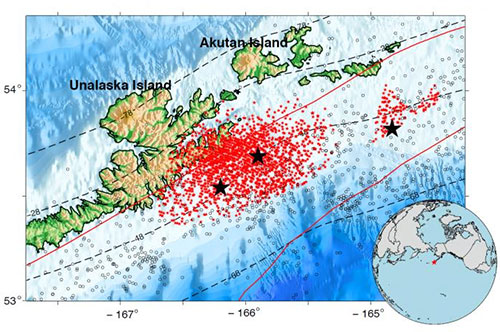 jpg Slow earthquakes occur continuously in the Alaska-Aleutian subduction zone