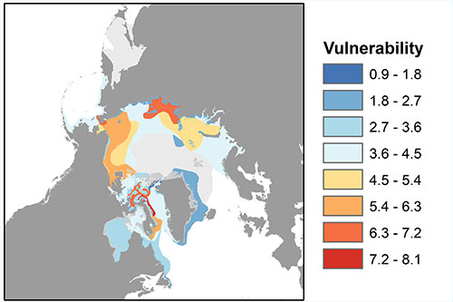 jpg This map, modified from the new manuscript, shows the September ranges of all Arctic marine mammal species.....