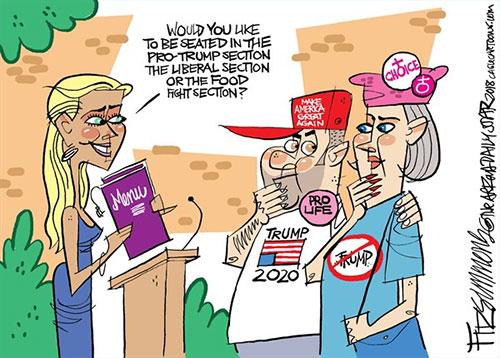 jpg Political Cartoon: Partisan Dining