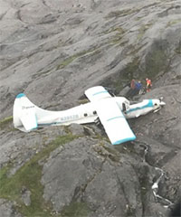 11 rescued from plane crash on POW