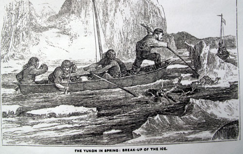 jpg Frederick Whymper created this illustration of traveling during breakup on the Yukon River in spring 1867.