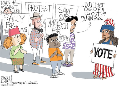 jpg Political Cartoon: Protest Vote