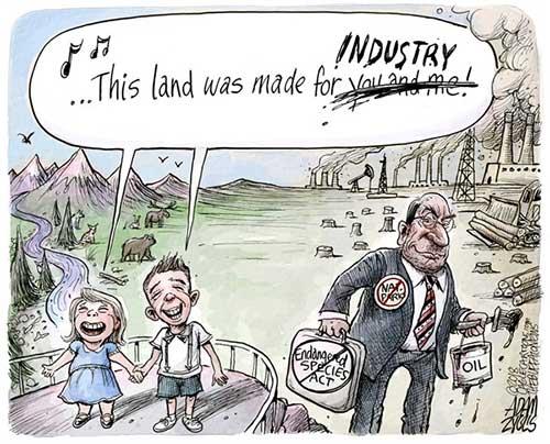 jpg Political Cartoon: Endangered Species Act