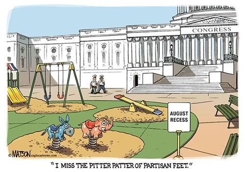jpg Political Cartoon: Congress August Recess