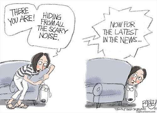 jpg Political Cartoon: Dogs and Fireworks