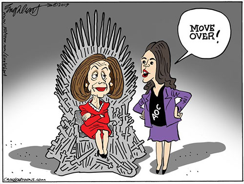 jpg Political Cartoon: Nancy And AOC