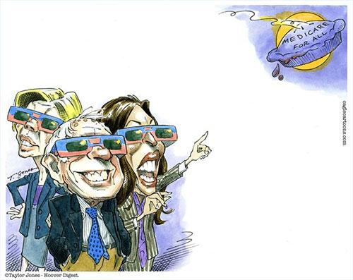 jpg Political Cartoon: Democrats' Medicare for All