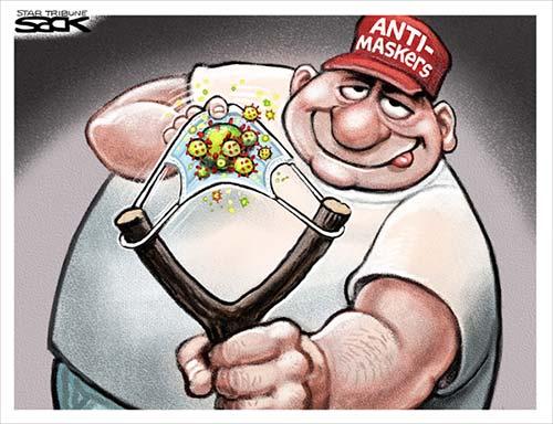 jpg Political Cartoon: Unmasked Man