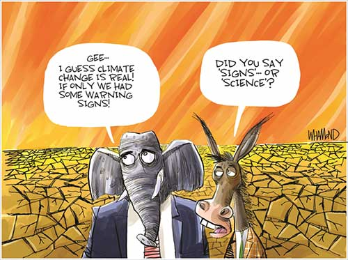 jpg Political Cartoon: Climate Change warning signs