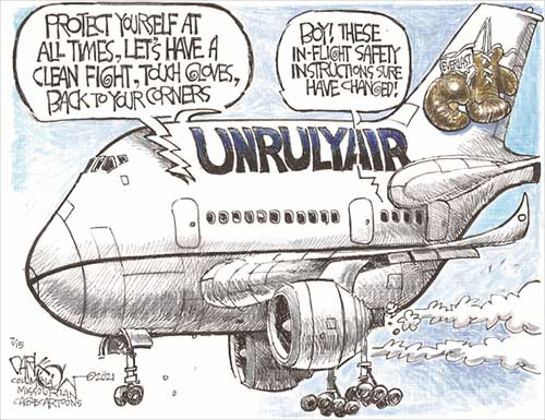 jpg Political Cartoon: Unruly passengers
