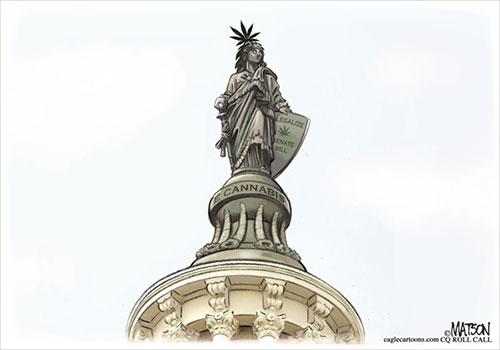 jpg Political Cartoon: US Senate Bill To Decriminalize Marijuana