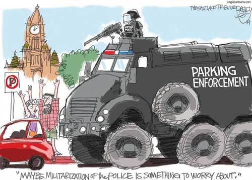 jpg Political Cartoon: Warrior Cops
