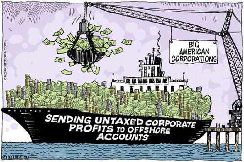 jpg Political Cartoon: Untaxed Corporate Profits