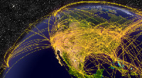 Jet contrails affect surface temperatures
