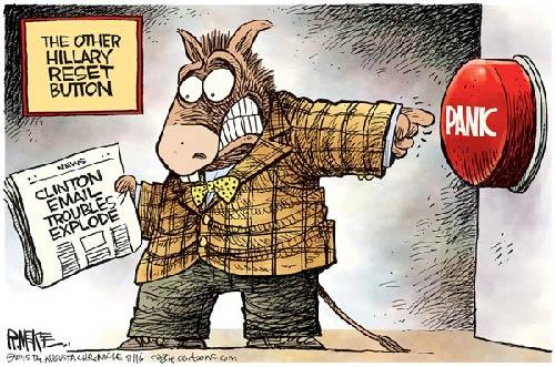 jpg Political Cartoon: Hillary Panic Button