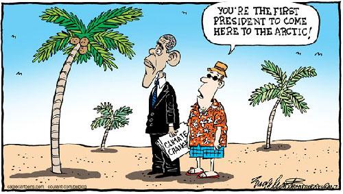 jpg Political Cartoon: Obama At The North Pole
