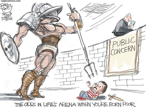 jpg Editorial Cartoon: Arena of Life