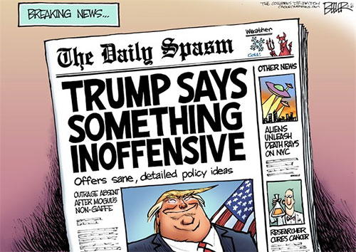 jgp Editorial Cartoon: 'Yuge' News