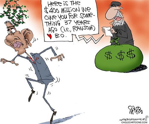 jpg Editorial Cartoon: Obama's Ransom