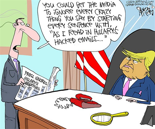 jpg Editorial Cartoon: Hillary's Emails Ignored