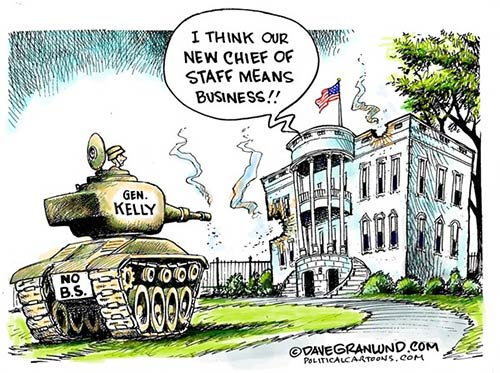 jpg Editorial Cartoon: General Kelly Chief of Staff