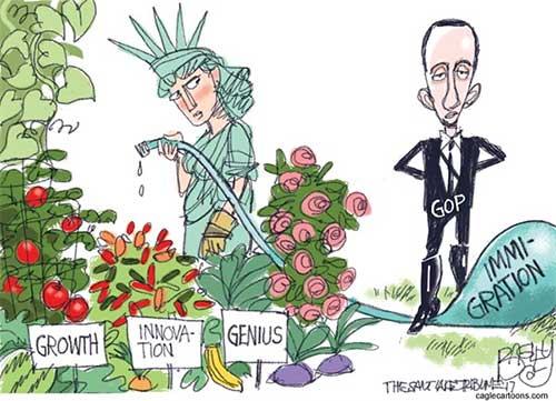 jpg Editorial Cartoon: Liberty Garden