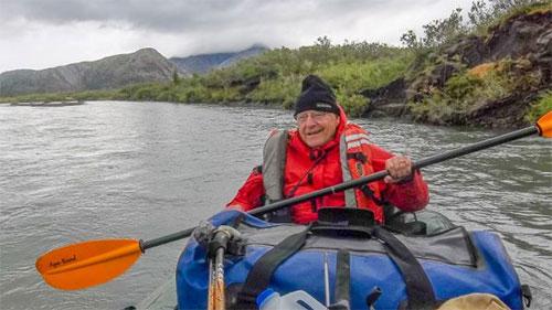 jpg Stan Havlick paddles down the Sheenjek River in July 2017.