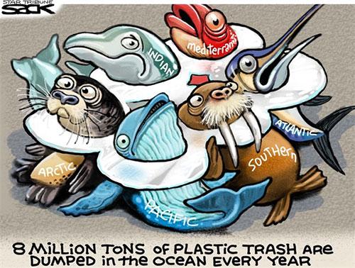 jpg Editorial Cartoon: Ocean Trash