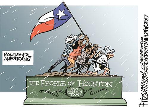 jpg Editorial Cartoon: Hurricane Harvey, Houston