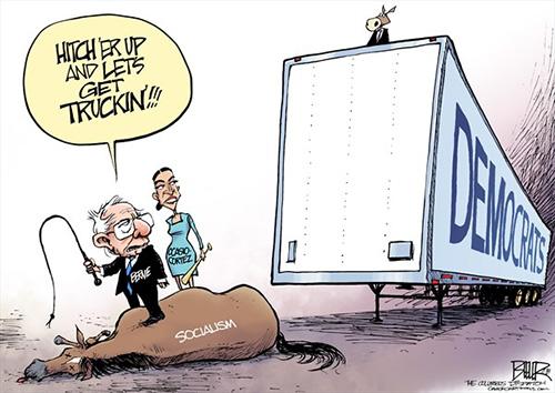 jpg Political Cartoon: Democrats and Socialists