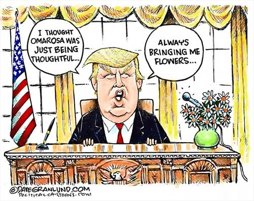 jpg Political Cartoon: Omarosa White House taping