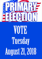 Alaska Primary Election August 21, 2018