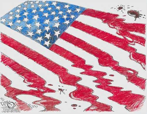 jpg Political Cartoon: Hate and violence