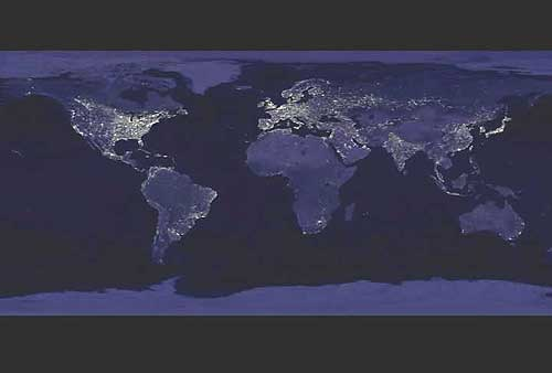 Sitnews Stories In The News Ketchikan Alaska News Features - Earth at night map
