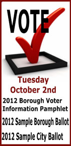 Vote October 2nd - Ketchikan, Alaska
