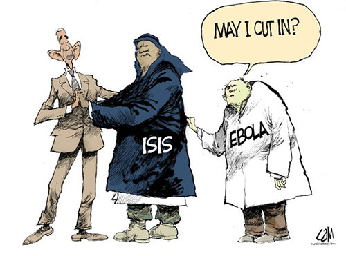 jpg Political Cartoon: Dancing with ISIS and Ebola