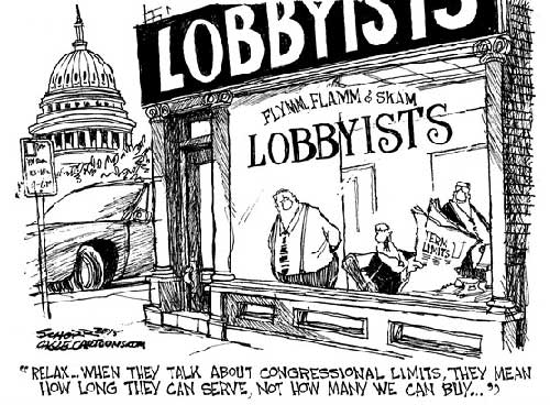 jpg Political Cartoon: Lobbyists Inc