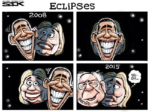 jpg Political Cartoon: Hillary Eclipses