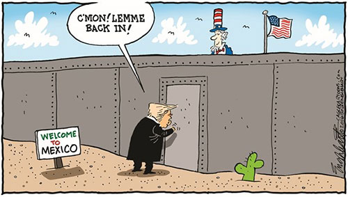 jpg Editorial Cartoon: Trump To Mexico